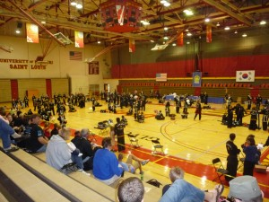 A view of the tournament floor, taken mid-day